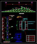 نقشه-سازه-ساده-اتوکد-جزئیات-اجرایی-سقف-شیبدار-با-خرپای-فلزی